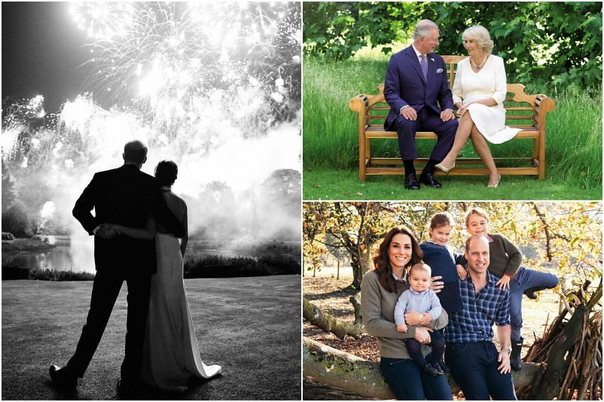 Britain's royal family revealed their 2018 Christmas cards on Dec 14, 2018.
