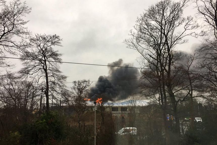 Pictures on social media showed flames and plumes of smoke emerging from Chester Zoo in northern England.