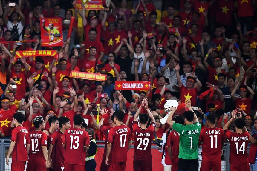 Vietnam beat Malaysia 1-0 at My Dinh National Stadium in Hanoi on Dec 15, 2018.