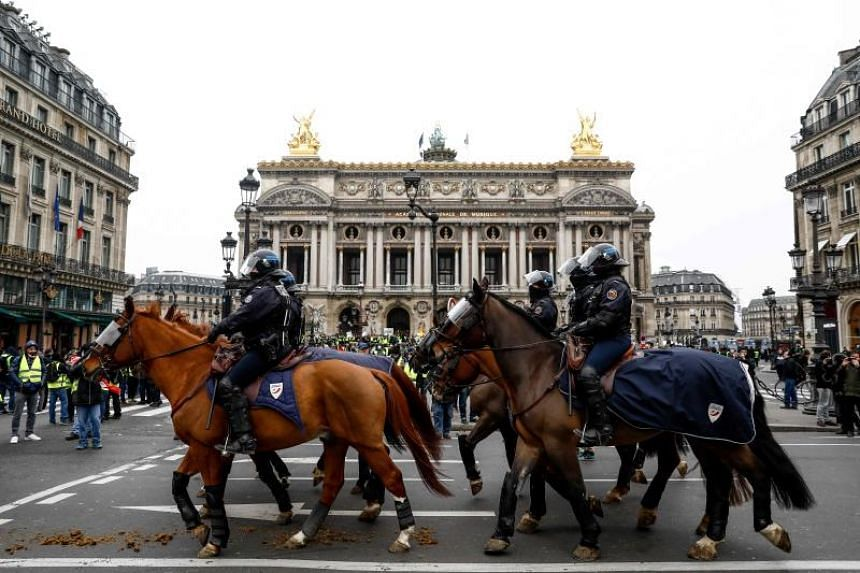In Paris, police were out in force to contain possible outbursts of violence.