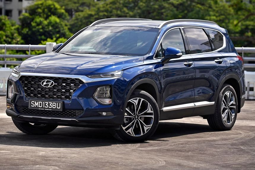 The 2.2 turbodiesel Santa Fe goes from a trot to a full gallop more effortlessly than its petrol sibling. Its features include a connected infotainment touchscreen, a 360-degree camera system, a multi-function steering wheel and an enormous boot.
