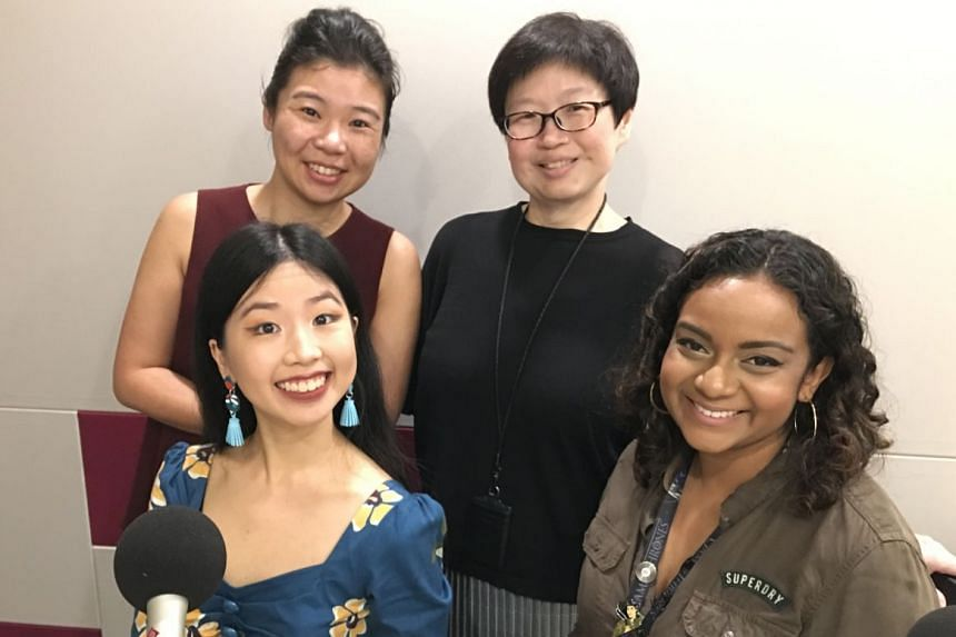 Life reporters (clockwise, from top left) Melissa Sim, Tan Hsueh Yun, Anjali Raguraman and Olivia Ho chat about all things Christmas.