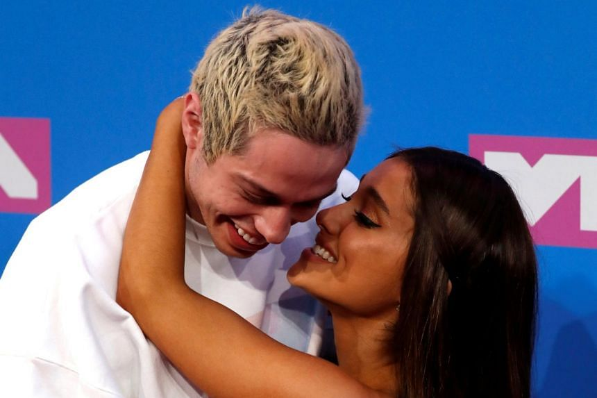 Pete Davidson and Ariana Grande at the MTV Video Music Awards in August 2018.