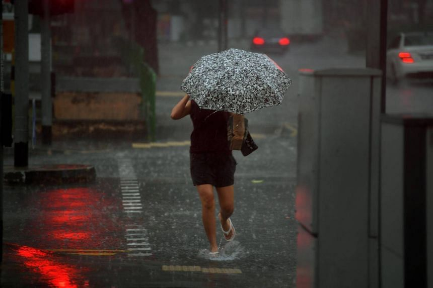 A generic picture of rain in Singapore. According to PUB, Singapore is currently experiencing the north-east monsoon.