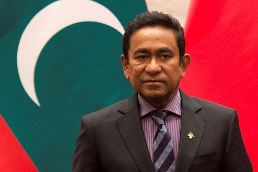 Former Maldives president Abdulla Yameen was interviewed by police over allegations he received close to US$1.5 million in illicit payments.