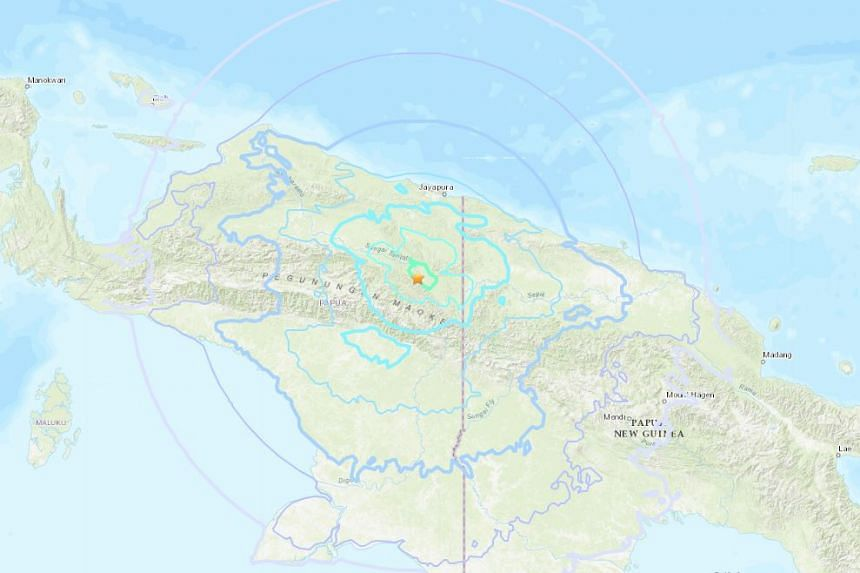 The earthquake was first reported at a 6.1-magnitude, 174km from Jayapura, Indonesia.