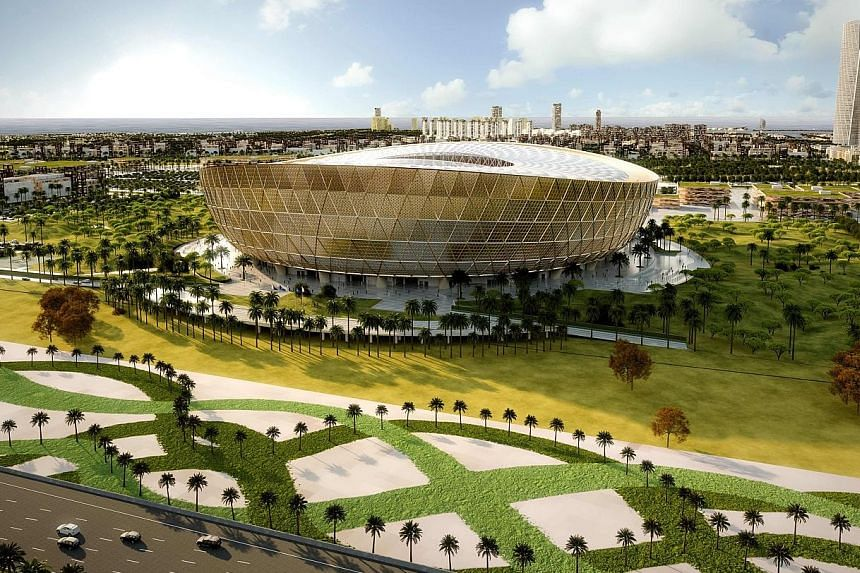 A computer-generated image of the 80,000-capacity Lusail Stadium, the eighth and final venue for the 2022 World Cup in Qatar.