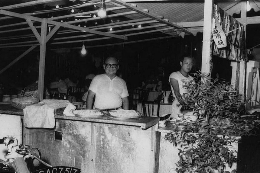 Spring Court founder Ho Loke Yee at his stall at Great World Amusement Park, where he started the business in 1929.