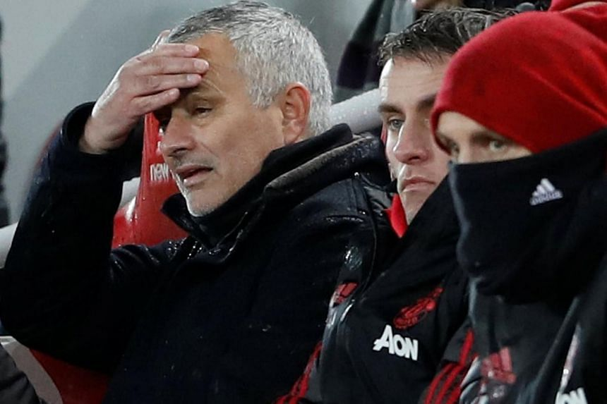 Manchester United's coach Jose Mourinho said he accepted responsibility for the team's fifth defeat of the season.