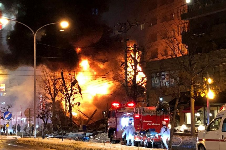 Media reports said that the explosion on Sunday (Dec 16) may have involved propane gas tanks in the building where the blast occurred.