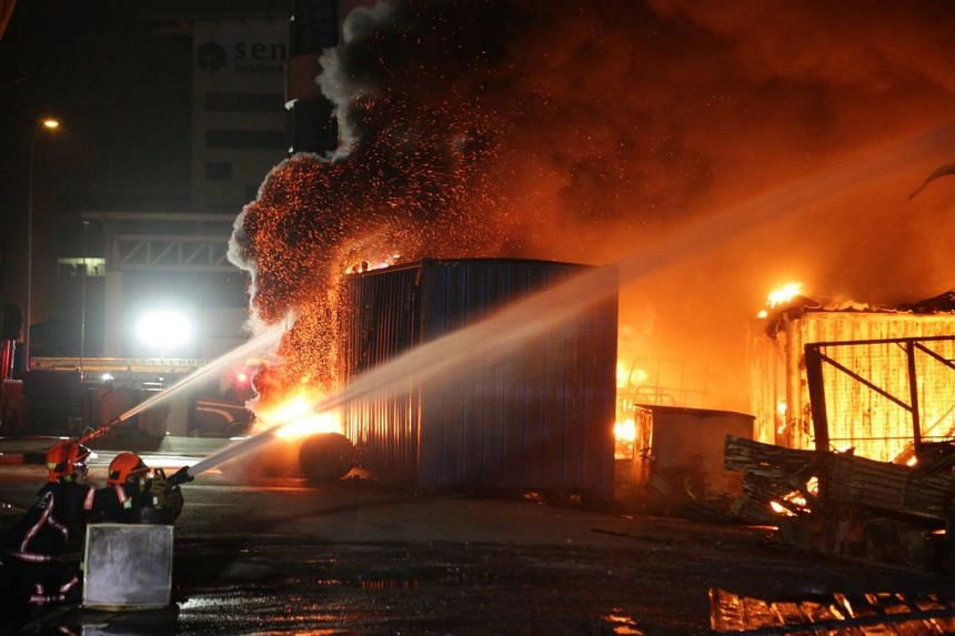 SCDF resources were quickly deployed around the premises - measuring approximately 100m by 80m - to contain the fire and prevent its spread to surrounding buildings