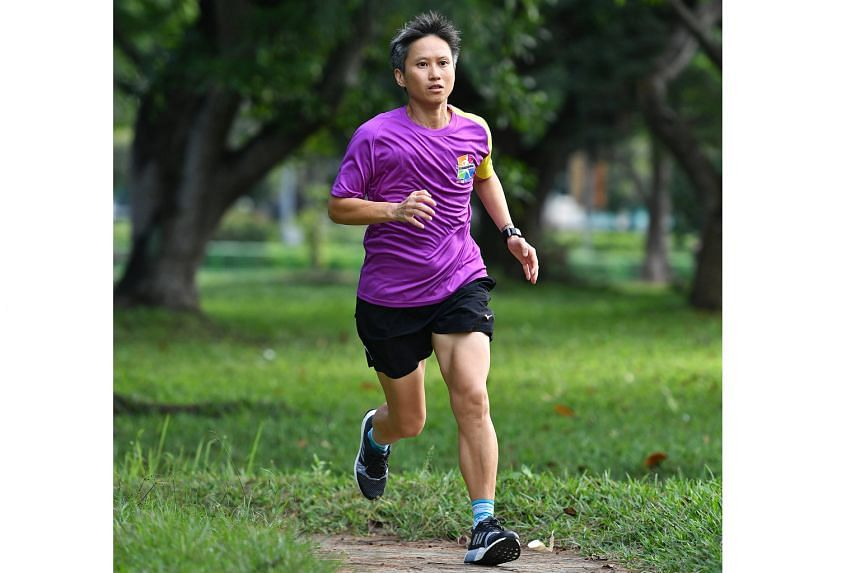 Ms Sandra Wu picked up running in 2012 and has taken part in four full marathons.