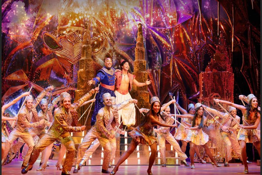 Aladdin premiered in the United States in 2011, and made its world premiere at Broadway's New Amsterdam Theatre three years later.