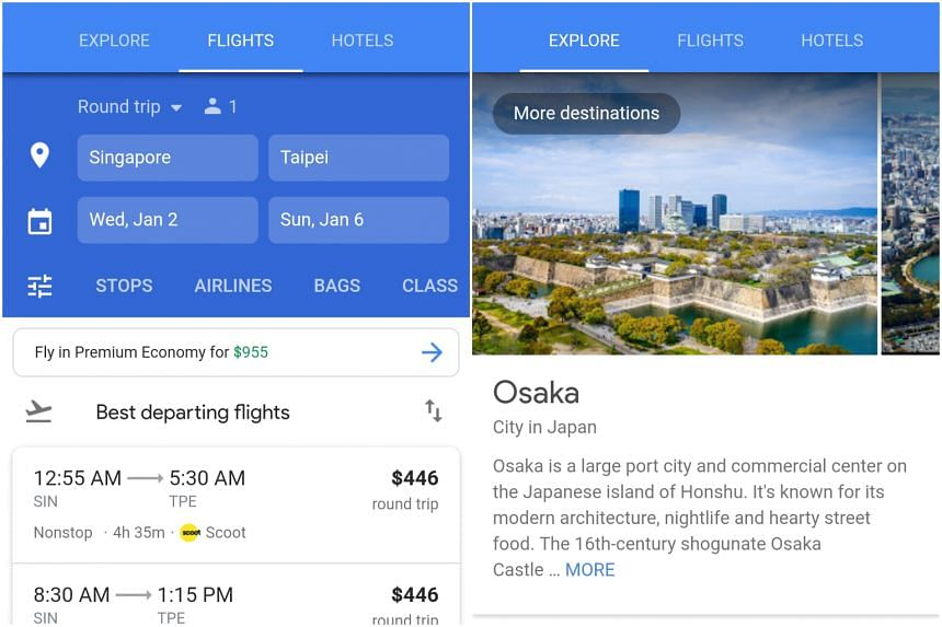 Users can compare flight options and even explore flying to alternate airports, across various platforms including mobile devices, tablets and desktops.