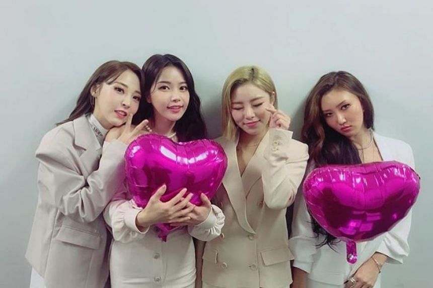 South Korean girl group Mamamoo will hold their first fan meeting in Singapore on April 27, 2019.