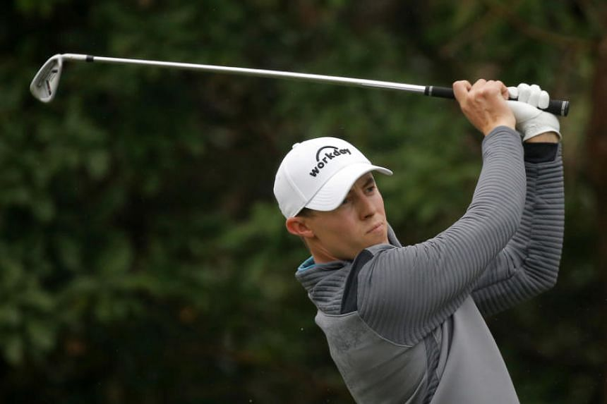 England's Matthew Fitzpatrick tees off during the fourth and final round of the Hong Kong Open golf tournament at the Hong Kong Golf Club on Nov 25, 2018.