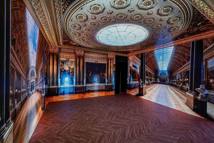 The Gallery of Battles at the Virtually Versailles exhibition.