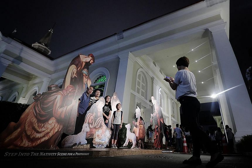 """The Cathedral of the Good Shepherd is inviting the public to its grounds in the heart of the Civic District to experience """"the true meaning of Christmas"""". In a video on its Facebook page, church rector, Monsignor Philip Heng, said: """"As you know at Or"""