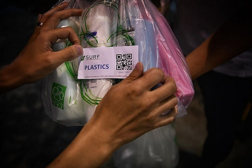 """IN TOMORROW'S CAUSES WEEK :Recycling push: NTU undergrads and their """"app way"""" to teach consumers how to recycle."""