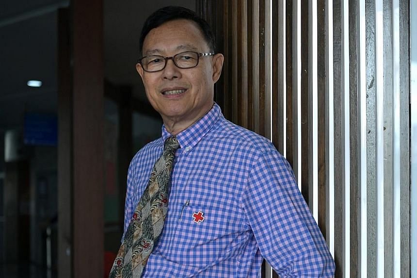 Mr Robert Chew, 69, started donating blood when he was a teenager, and has since donated 184 times, adding up to more than 70 litres of blood, or about 210 cans of drinks.