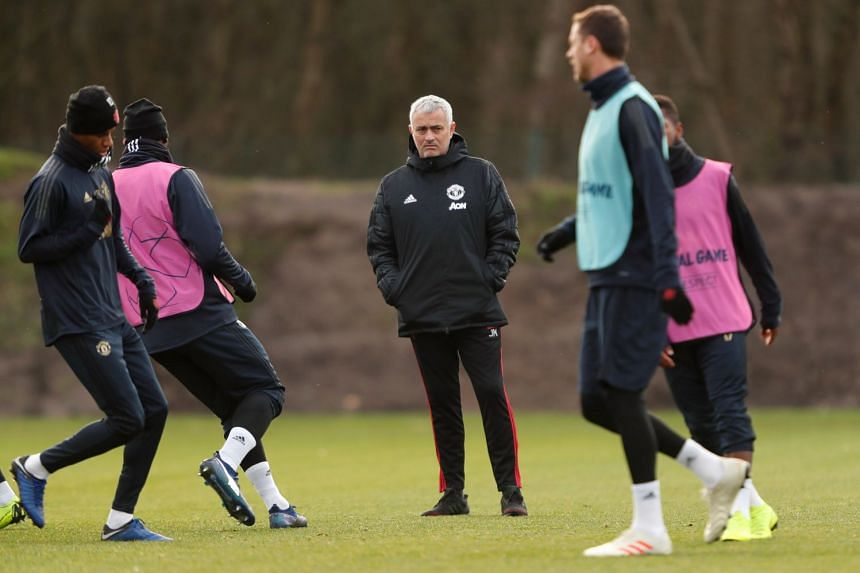 Manchester United's former manager Jose Mourinho during a training session at the Aon Training Complex in Manchester, on Dec 11, 2018.