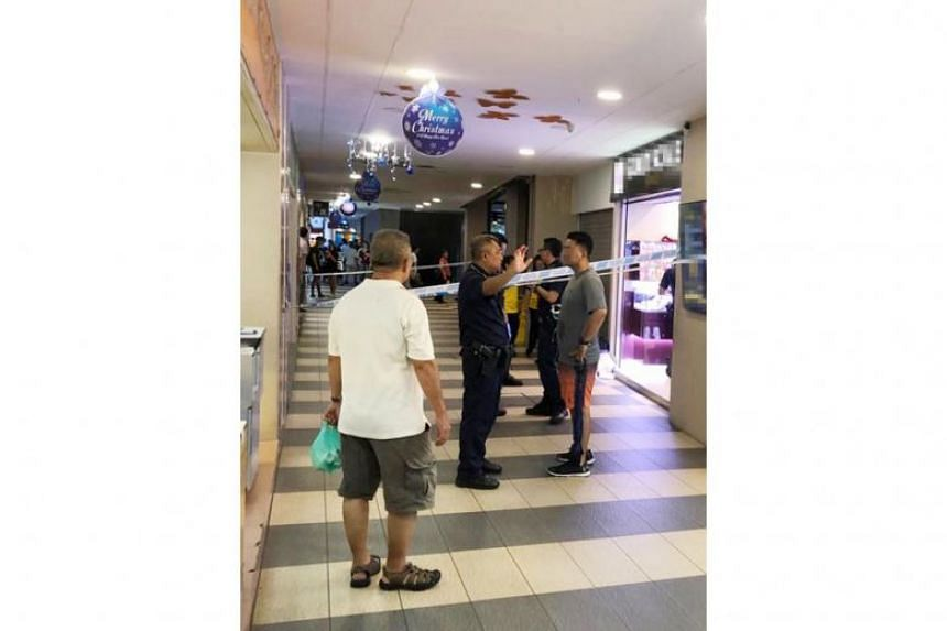 The incident happened at Gold Scale Jewels in Yew Tee Square shopping centre on Dec 15, 2018.