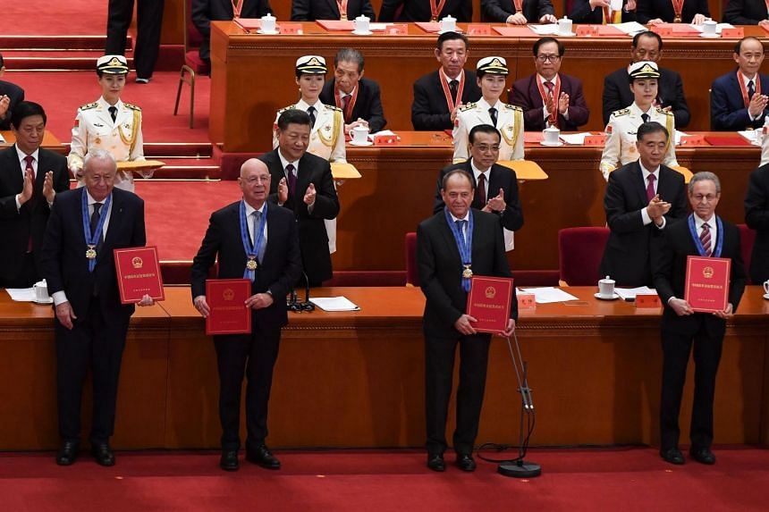The China Reform Friendship Medals were presented at a ceremony held at the Great Hall of the People to mark the 40th anniversary of China's reform and opening up.