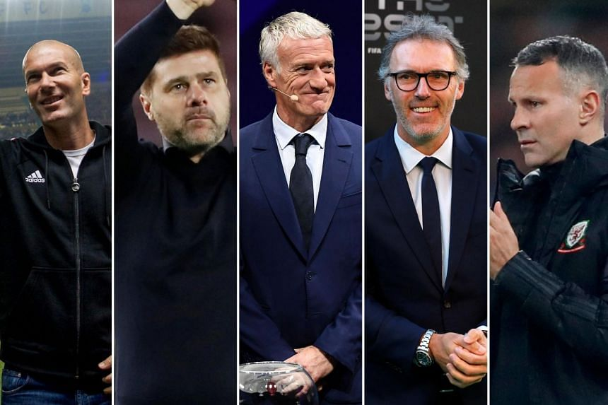 (From left) Zinedine Zidane, Mauricio Pochettino, Didier Deschamps, Laurent Blanc and Ryan Giggs are all potential picks to fill the gap left by Jose Mourinho's departure from the club.