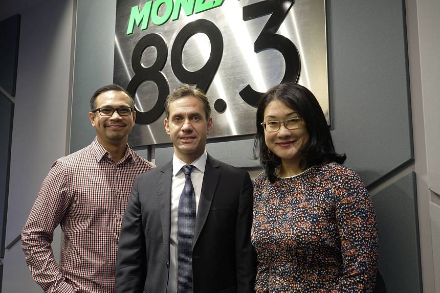Ambassador of the Republic of Turkey in Singapore - Murat Lutem (centre) - appears in this Money FM podcast hosted by Elliott Danker (left) and Yasmin Yonkers (right).