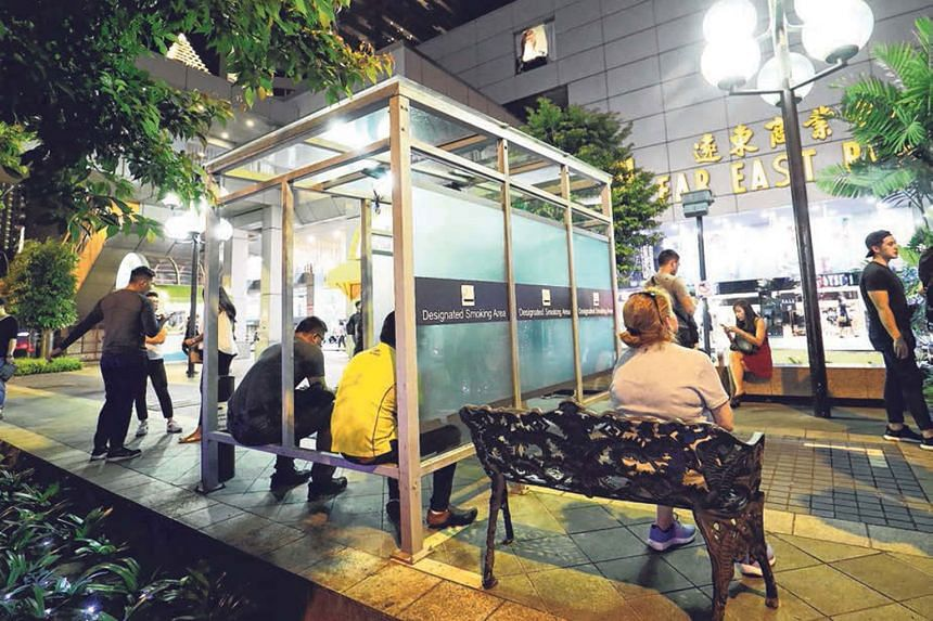 From Jan 1, Orchard Road will become almost entirely smoke-free. Smoking corners will be removed from eateries, and tobacco use will be allowed only in about 40 areas.