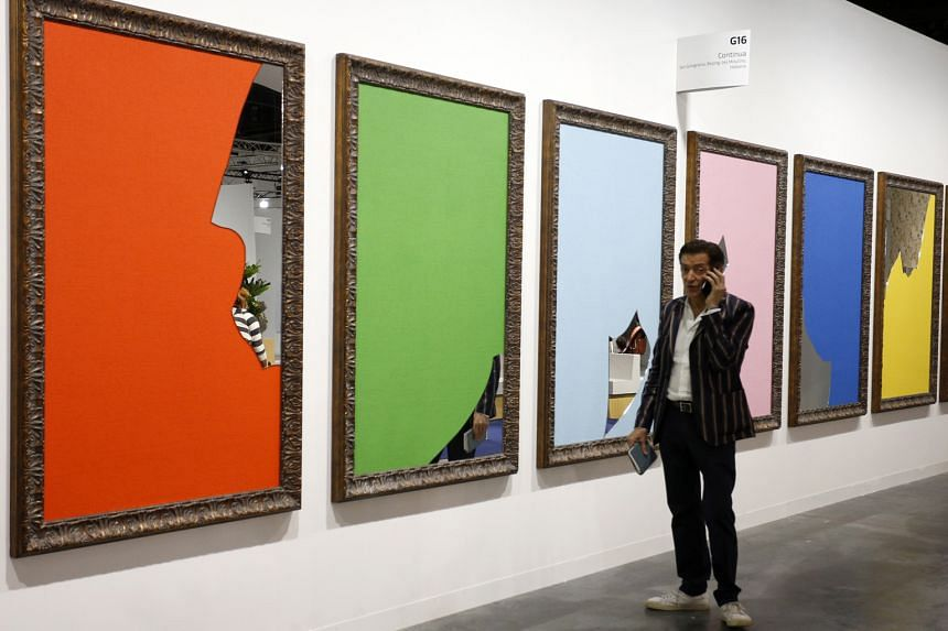 Color And Light by Michelangelo Pistoletto at Art Basel in Miami.