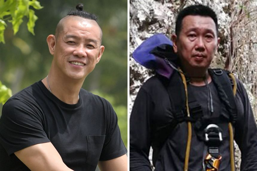 Mr Douglas Yeo (left) is a diver with 26 years of recreational and salvage-diving experience. Mr Poh Kok Wee runs a firm that installs high-rise signs and solar panels in Nonthaburi.