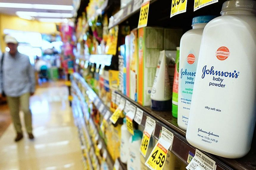 Johnson & Johnson shares fell nearly 3 per cent on Monday, on top of the 10 per cent plunge that wiped out about US$40 billion of the company's market capitalisation following the Reuters report last Friday that the company knew for decades that canc