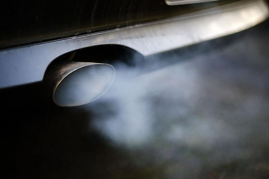 Exhaust gas (above) from diesel-powered cars will hopefully be a thing of the past as Europe reportedly revs up in the race to produce zero-emission cars.