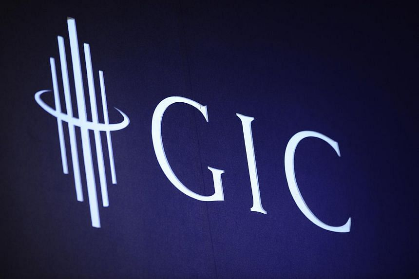 The logo GIC displayed at an anniversary conference in Singapore.