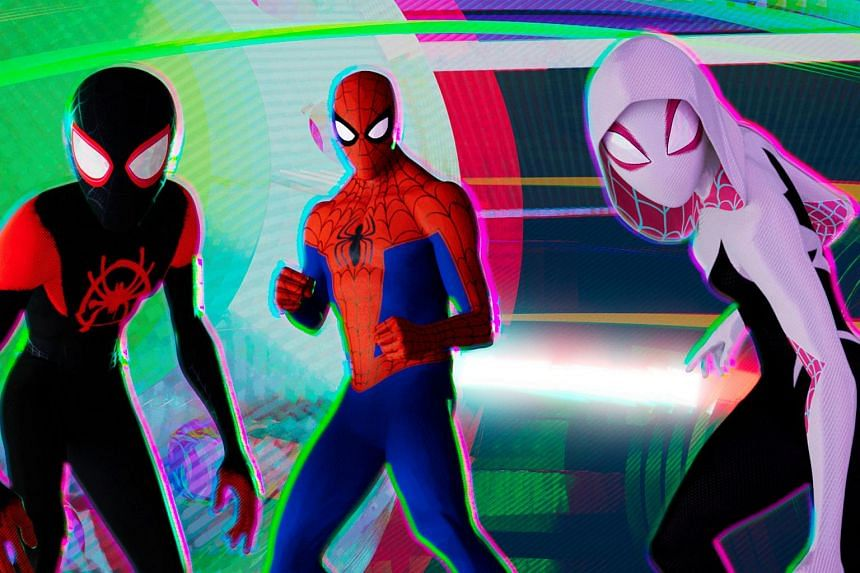 Spider-Man: Into The Spider-Verse's dazzling visual style draws heavily from the aesthetic language of the books, from wiggly lines around the head to indicate a tingling Spider sense, to the written sound effects.