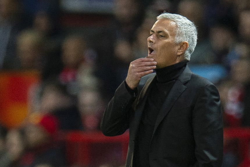 Manchester United manager Jose Mourinho at the UEFA Champions League Group H match between Manchester United and Juventus FC at Old Trafford in Manchester, Britain, on Sept 23, 2018.