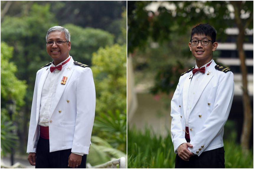 Military Expert 4 (NS) Michael Gabriel Pillai (left) and Military Expert 4 William Lim are among 89 senior military experts to be appointed in a ceremony at Temasek Club on Wednesday (Dec 19).