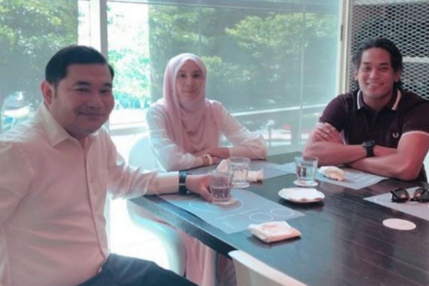 Screenshot from former Umno Youth chief Khairy Jamaluddin's (right) Instagram account shows him meeting PKR's Ms Nurul Izzah and Mr Rafizi Ramli for lunch at a bistro in Bangsar.