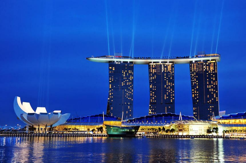 Crazy Rich Asians delivered a promotional boost to the hotel industry by showcasing the likes of the Marina Bay Sands (pictured) and Raffles Singapore.