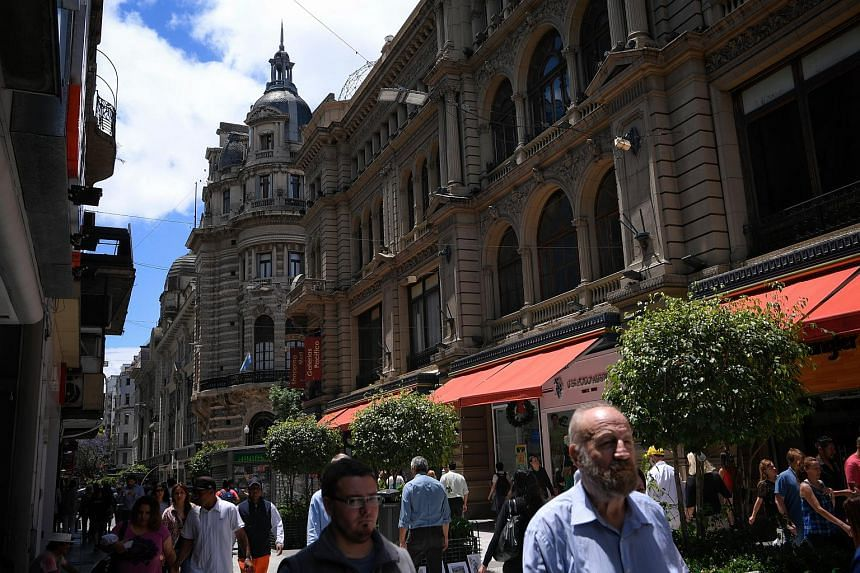 A street in Buenos Aires, on Nov 29, 2018. The IMF predicts that Argentina's economy will shrink by 2.6 per cent this year and another 1.6 per cent in 2019.