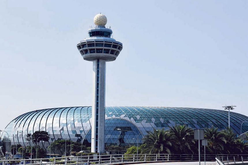 The futuristic-looking Jewel Changi Airport will open in late March with a host of brand-name franchises, such as popular New York burger chain Shake Shack and hot-dog/root-beer chain A&W.