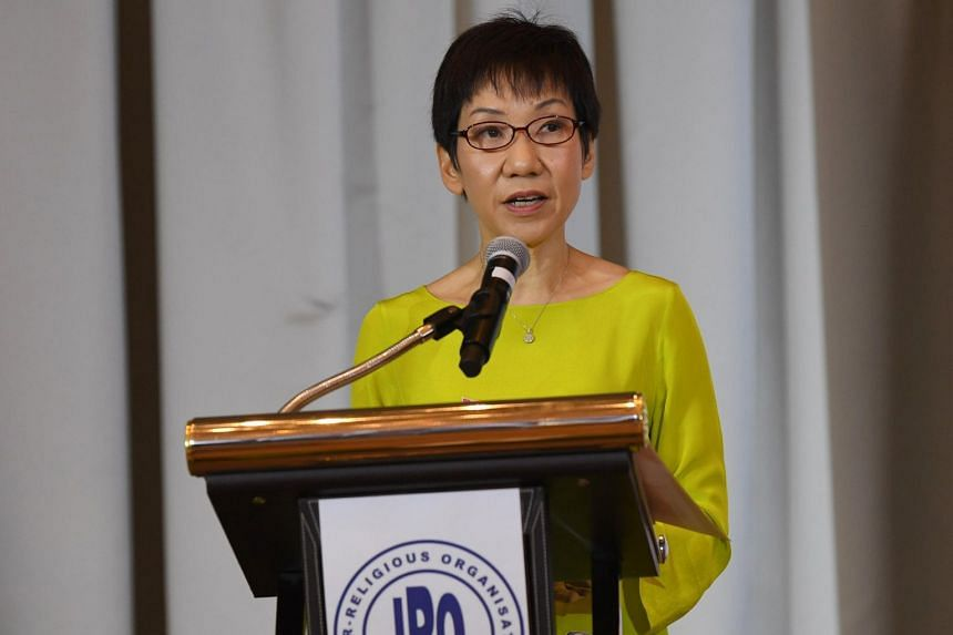 Minister for Culture, Community and Youth Grace Fu at the Inter-Religious Organisation interfaith charity dinner at the Fullerton Hotel on Dec 19, 2018.