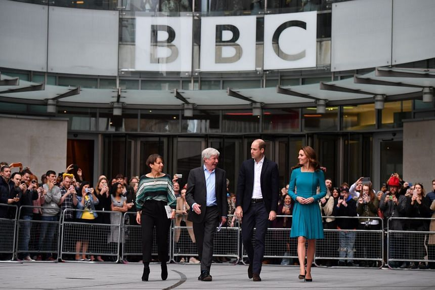 Britain's Prince William and Catherine, Duchess of Cambridge, visiting BBC Broadcasting House in London.