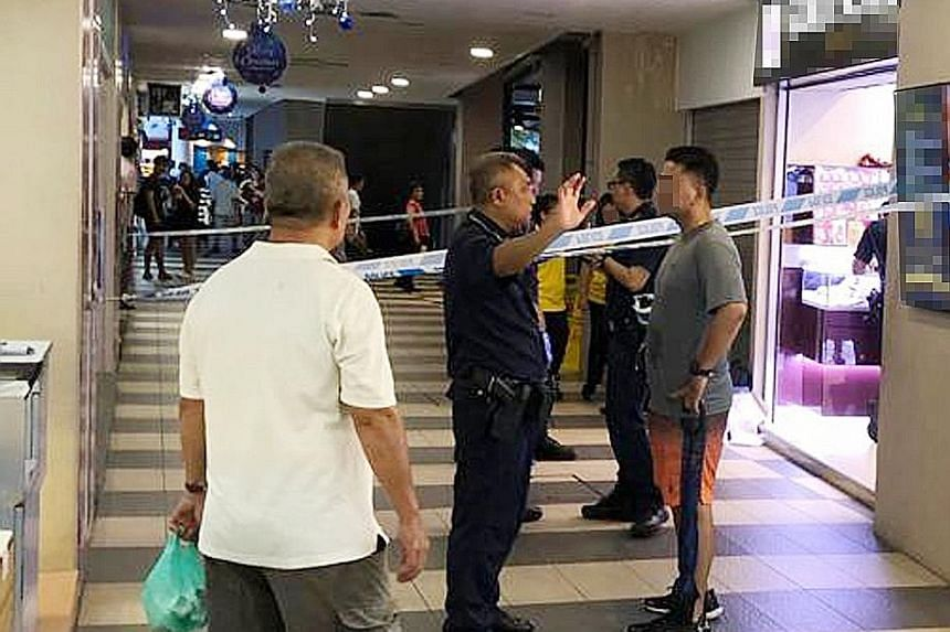 The incident at Gold Scale Jewels in Yew Tee Square shopping centre took place last Saturday.