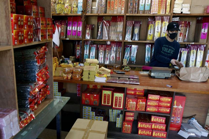 Mr Lin Chin-hsiang, the Taiwanese delivery driver who smashed into three Ferraris on Dec 16, 2018, at his family's shop selling incense and gold paper money in Taipei. Mr Lin faces a mammoth bill over the crash.