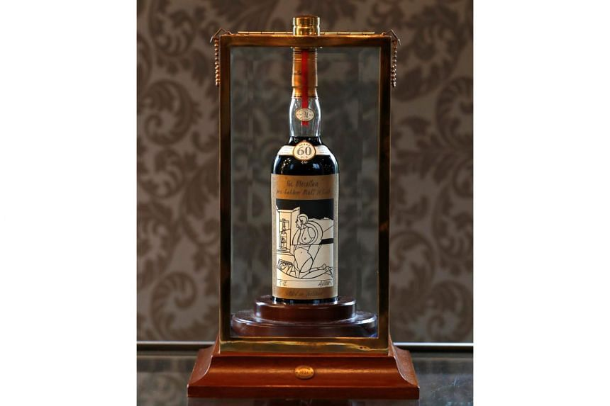 The Macallan Valerio Adami 1926 was sold for record 848,750 pounds (S$1.47 million) at auction.