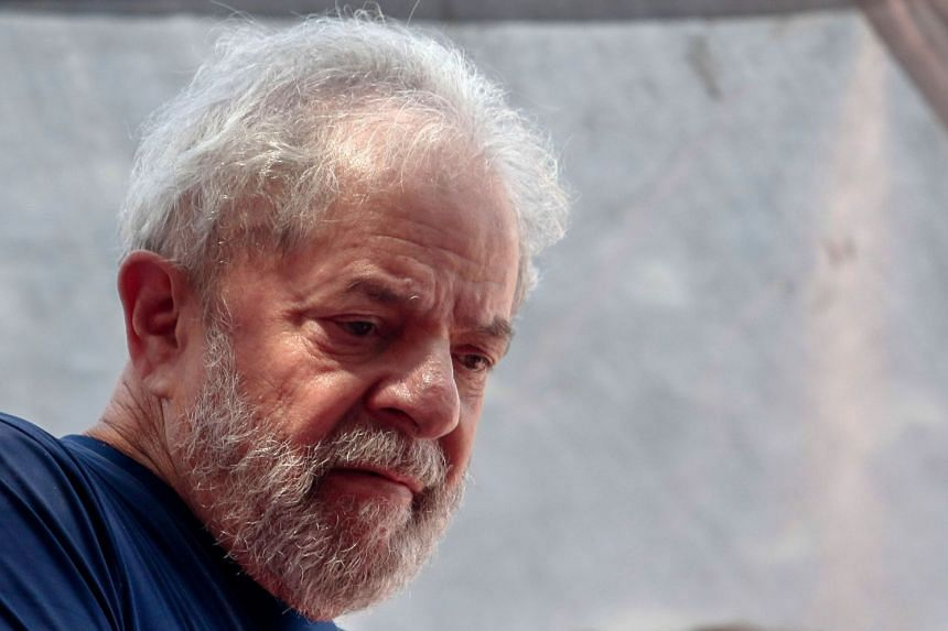 Lula (above) was sentenced in April to more than 12 years' jail and faces six other trials for alleged corruption.