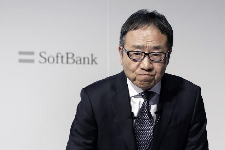 Ken Miyauchi, CEO of the SoftBank Corp mobile division, at a news conference in Tokyo, Japan, on Dec 19, 2018.