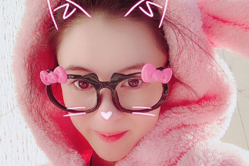 Hong Kong actress Cecilia Cheung posted a photo of herself in novelty spectacles on Tuesday morning.